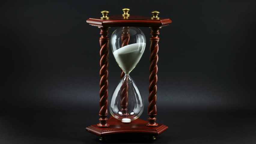 Time Lapse Footage Of Decorative Hourglass Stock Footage Video - Decorative-hourglass
