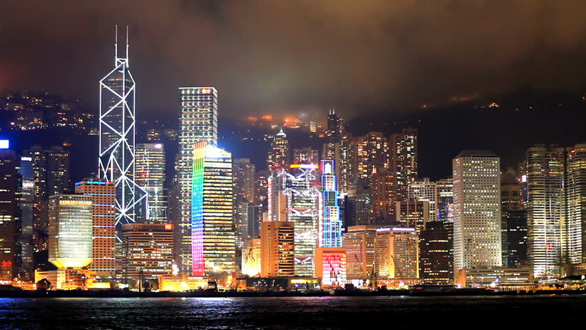 Skyscrapers in Hong Kong. Timelapse | Shutterstock HD Video #1197595