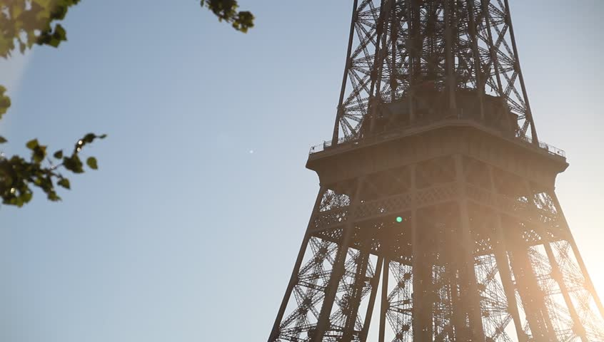 Eiffel Tower close up in sunny summer day, Paris | Shutterstock HD Video #12207506