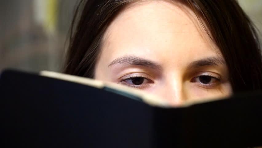 Girl reading a book | Shutterstock HD Video #12236372