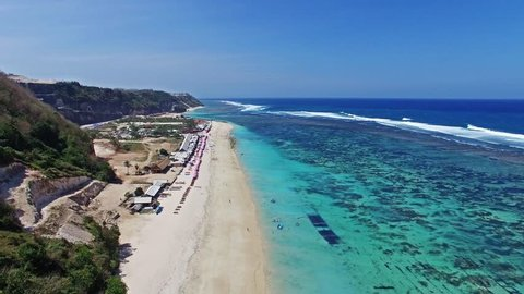 Beautiful beach in Indonesia, Bali. Aerial view.
