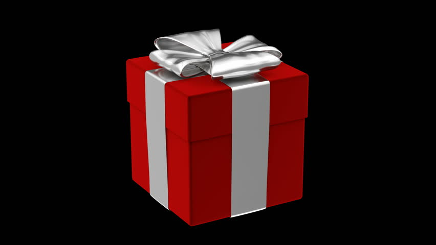 An animated clip with the camera flying into an open gift box loop able 3d animation of red gift box alpha mask is included hd negle Image collections