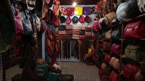 Tannery shop in Fez, Morocco