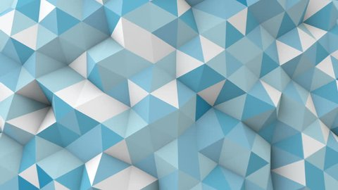 blue polygonal geometric surface. computer generated seamless loop abstract motion background