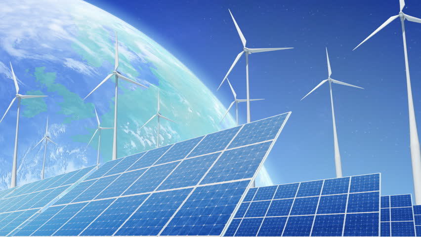 Alternative Energy Solar Power Station And Electric