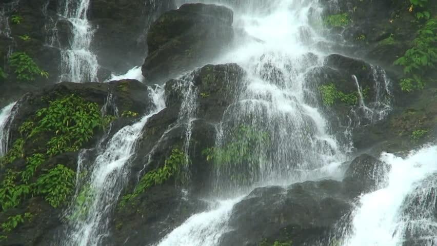 Majestic Waterfall, Tamaraw Falls, Mindoro Island Philippines, Hd