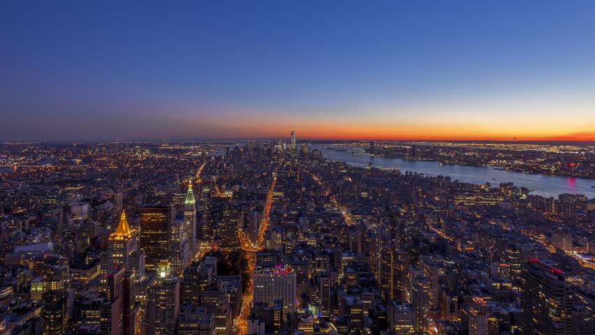 Sunset in New York City 4K #12428282