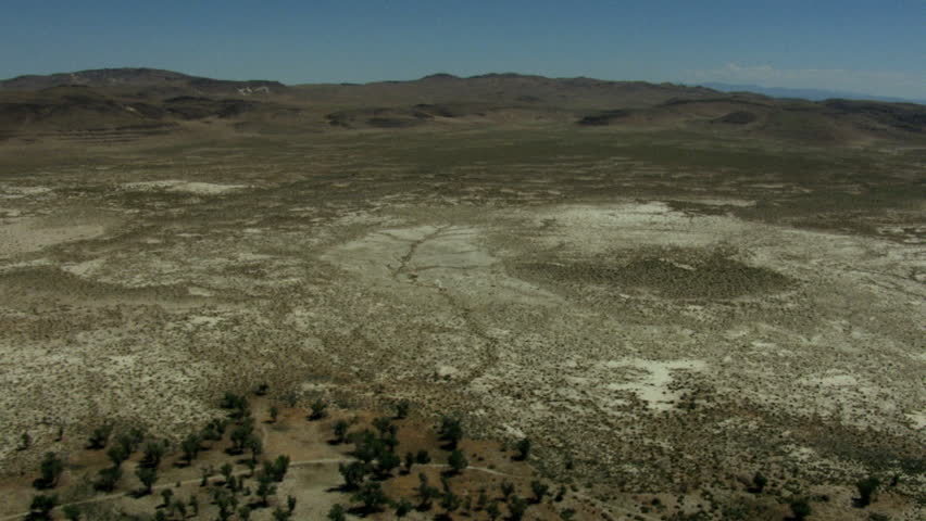 Aerial Ranch land Scrubland vegetation dry climate USA | Shutterstock HD Video #12433892