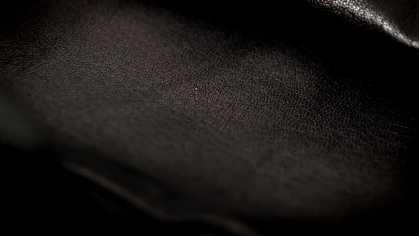 Black Leather Texture Background HD Stock Footage Close Up With A Sliding Camera Move Of Jacket Video 12466952