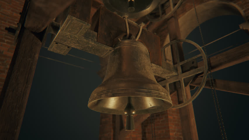02391 Traditional Old Bells Ringing In A Church Tower