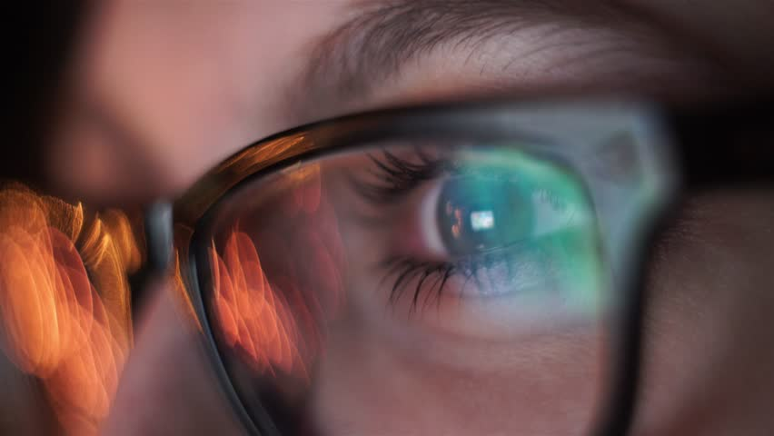 Woman eye looking monitor, surfing Internet | Shutterstock HD Video #12586874