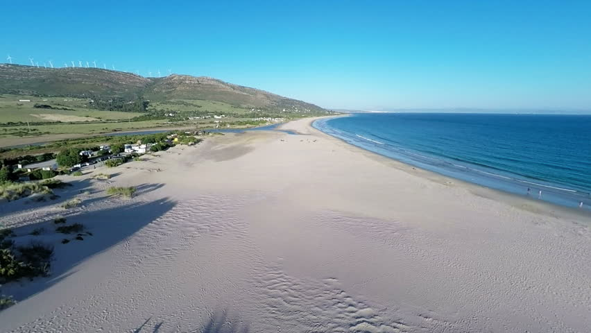 Aerial View From Flying Drone on Tarifa Area in Spain #12589613