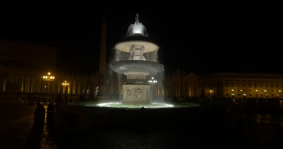 4K, Fontana Di Fiumi, Rome, Vatican, Italy