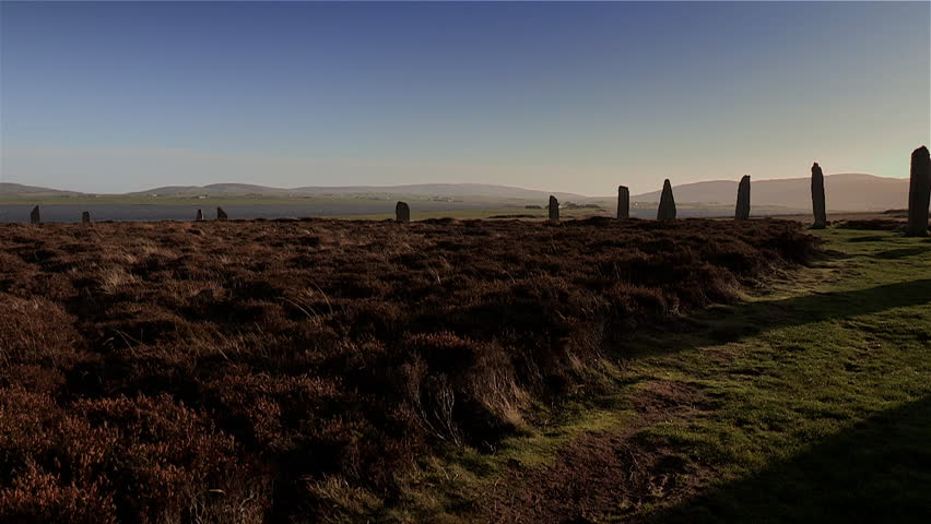 Ring of Brodgar stone circle, neolithic monument, Orkney Islands, Scotland