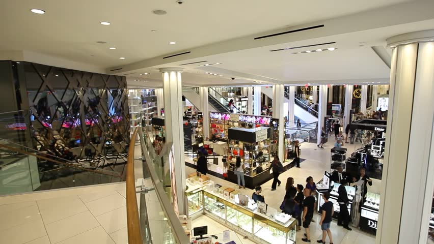 NEW YORK CITY, NY - JULY 13, 2015: Interior overview of Macy's in the center of New York City. Macy's is a chain of large retail US founded in 1858.