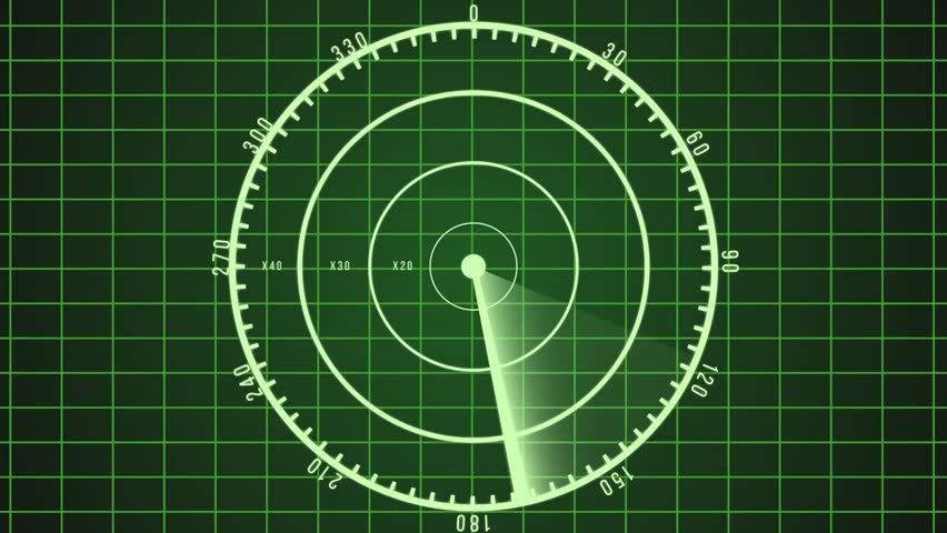 Loop able green radar screen, showing air traffic, navigation interface | Shutterstock HD Video #12662612