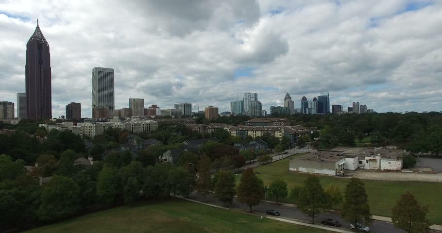 Atlanta downtown aerial #12701879