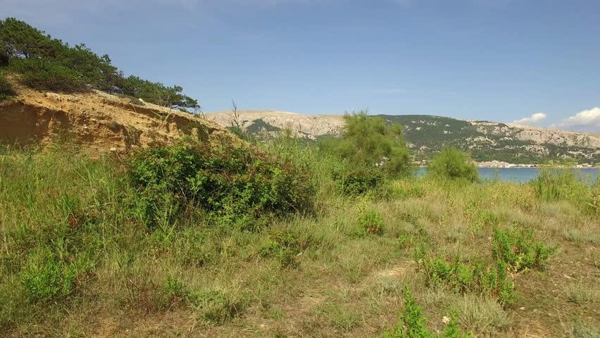 Beach view over the pine trees, Baska Croatia  | Shutterstock HD Video #12753932