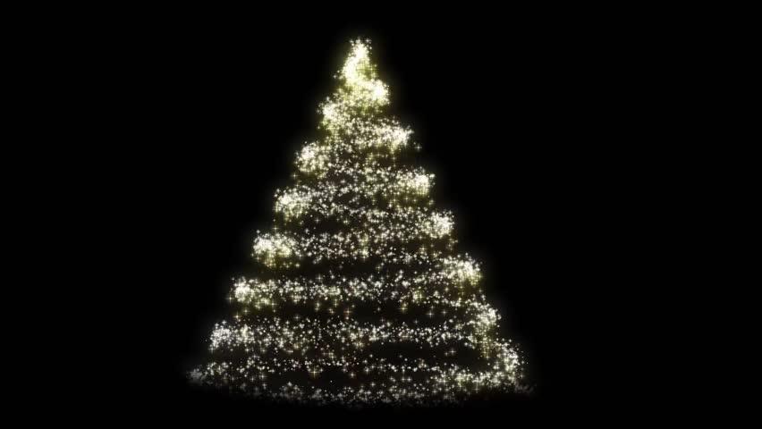 Sparkle Christmas Tree Stock Footage Video (100% Royalty ...
