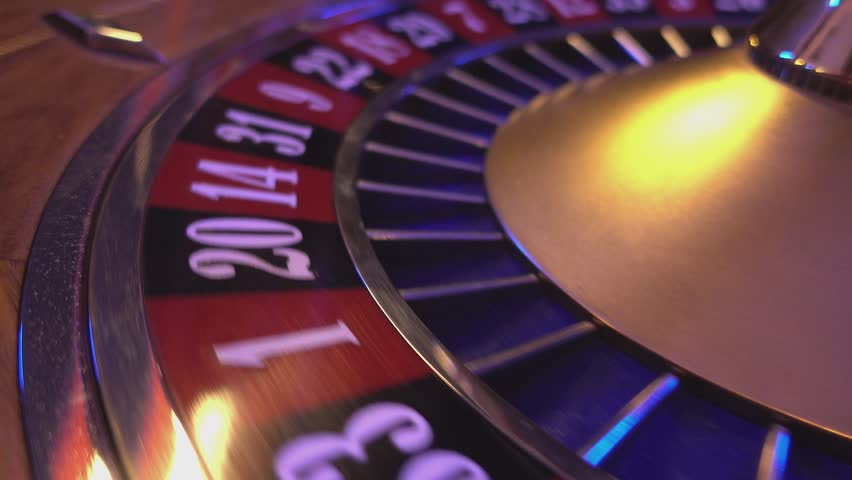 Perspective close up view on Roulette Wheel in a casino | Shutterstock HD Video #12838262