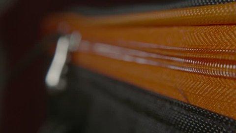 Zip on Suitcase / Luggage - Close Up, Macro