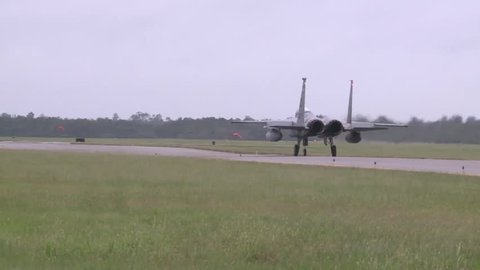 Naval Air Station New Orleans, November 2015, A F15 Aircraft Roll Startposition