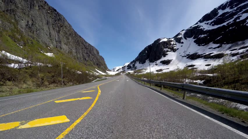 Driving a Car on a Road in Norway | Shutterstock HD Video #12862754