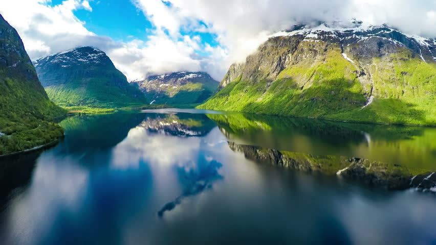 Aerial footage from Beautiful Nature Norway. Shot in 4K (ultra-high definition (UHD)) | Shutterstock HD Video #12862787