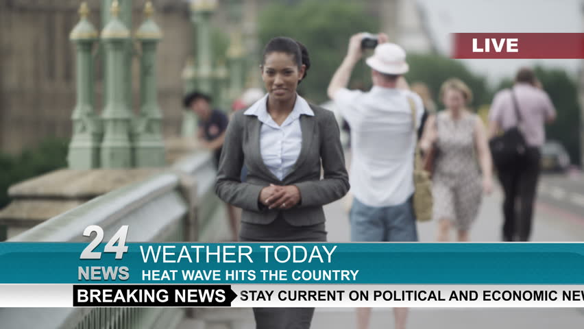 4k Female Weather Reporter Doing Stock Footage Video (100% Royalty-free)  12863822 | Shutterstock