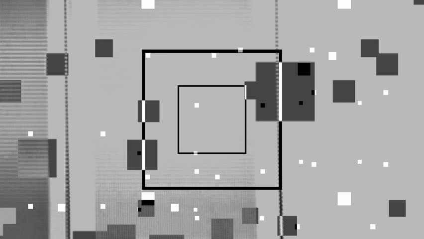 Abstract graphic composition including video footage and computer generated elements mixed together with an overall minimal black and white style.