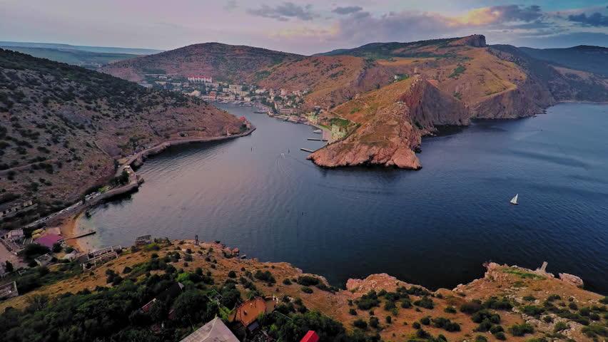 Russia, Crimea, Sevastopol ,the Bay of Balaklava, August 2015 | Shutterstock HD Video #12913622