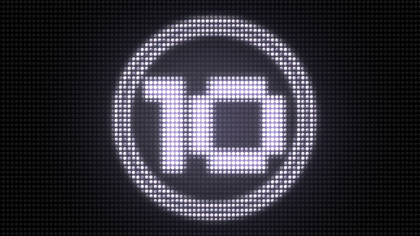 Countdown from 10 on LED Pannel | Shutterstock HD Video #12926222