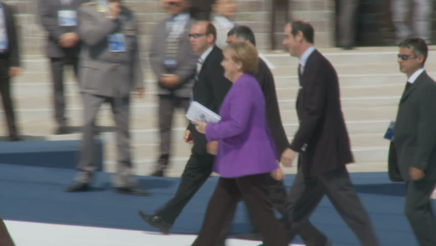 Angela Merkel, German Leader, At The G8. The 35th G8 summit was held in L'Aquila, Abruzzo, Italy, on July 8–10, 2009