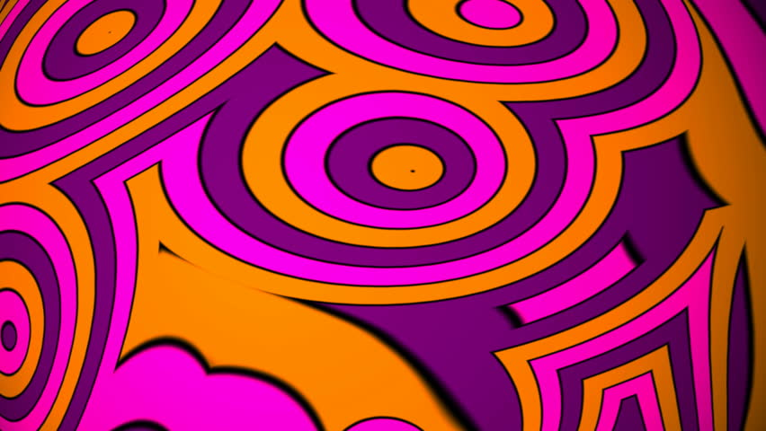 seamless looping psychedelic hippie background in HD