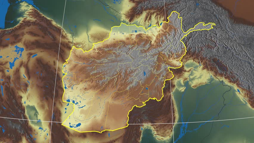 Laghman Province Extruded On The Physical Map Of Afghanistan - Physical map of afghanistan