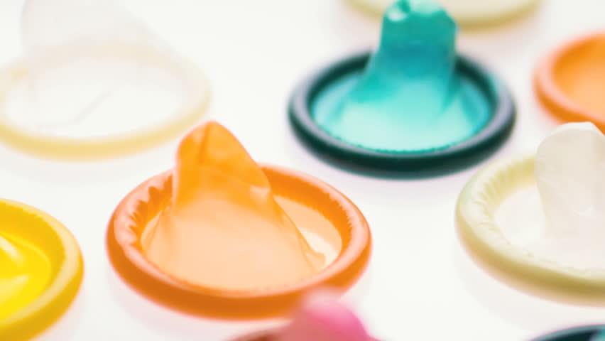 Condoms birth control contraception closeup, loop