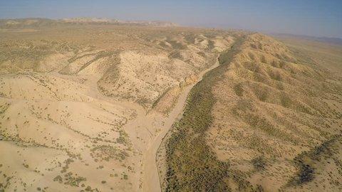 CALIFORNIA - CIRCA 2015 - Aerial over the San Andreas fault in California.