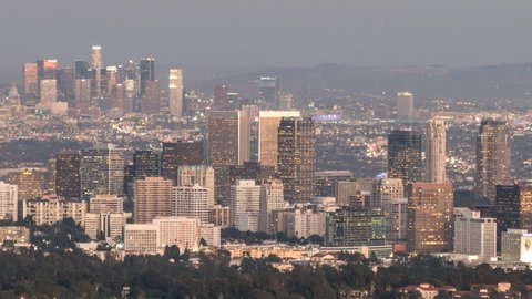 Century City And Downtown Los Stockvideos Filmmaterial 100