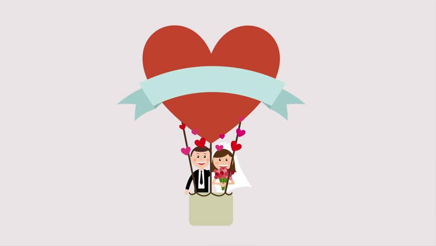 Wedding Invitation Design Video Animation Hd1080 Stock Footage