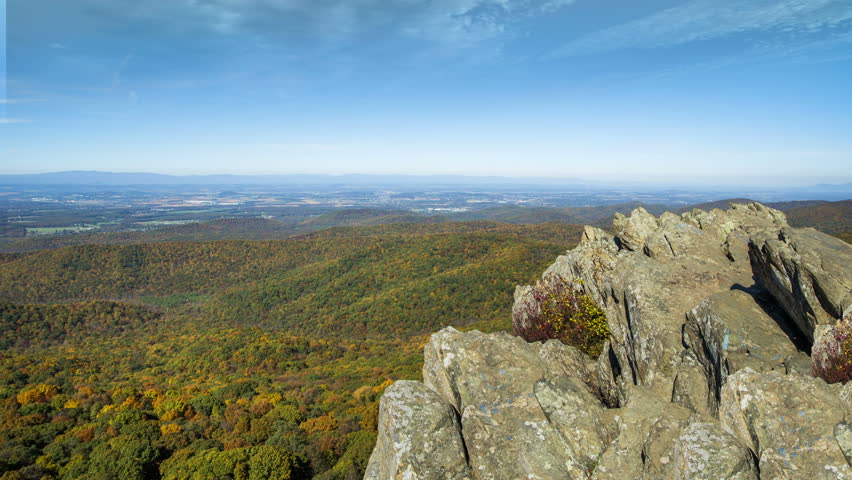 A timelapse atop Humpback Rock in Virginia