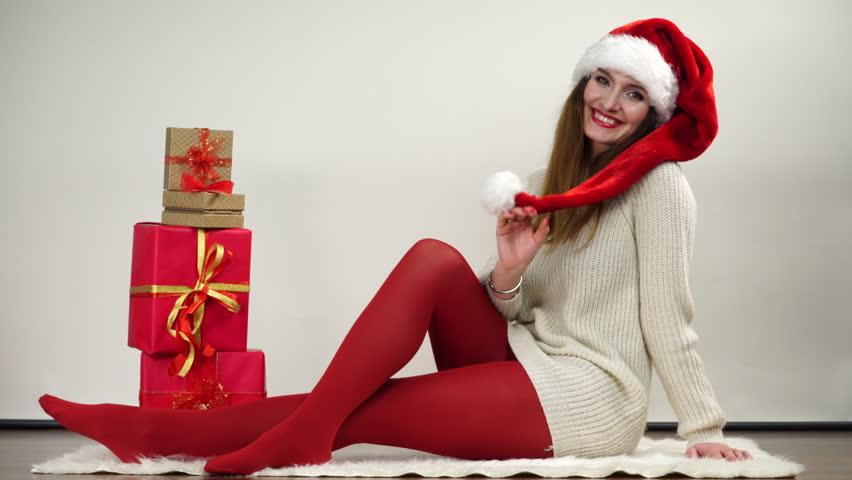 Christmas pantyhose video