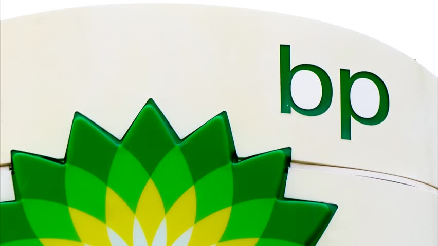 AMES, IA/USA - AUGUST 6, 2015: BP gas station exterior sign. BP is a British multinational petroleum company.