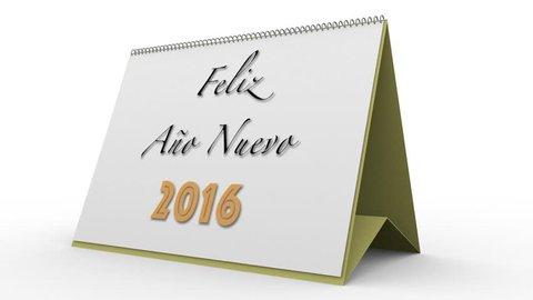 2016 calendar spanish