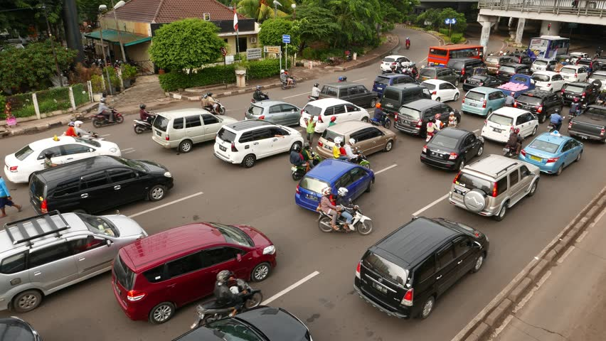 Jakarta Indonesia March 10 2015 Move On Busy Sunny Street