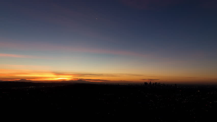 Los Angeles, California Sunrise Timelapse