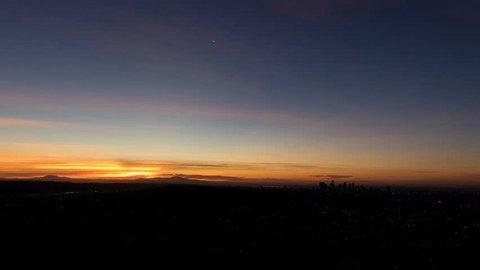 Los Angeles, California Sunrise Timelapse