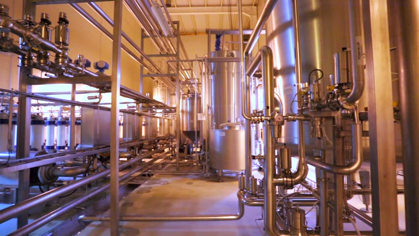 MOSCOW, RUSSIA - DECEMBER 28, 2014: Moscow Brewing Company plant, view of cleaning workshop, filters. | Shutterstock HD Video #13258655