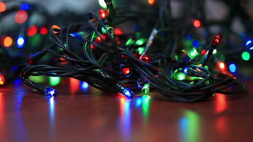tangled christmas light bulbs on stock footage video 100 royalty free 13312082 shutterstock - Tangled Christmas Lights