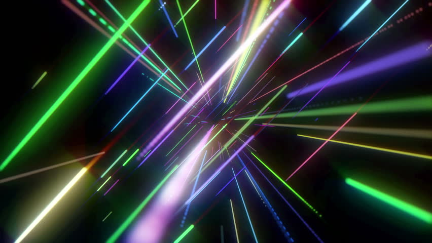 Animation Of Colorful Neon Disco Lasers Lights Moving In ...