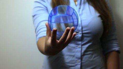 Volleyball hologram